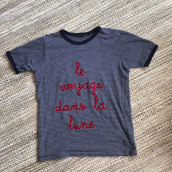 Truly Madly Deeply Tops - Urban outfitters French ringer tee size small